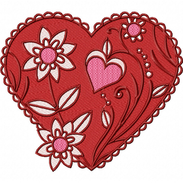 Valentines Hearts Collection #02 Machine Embroidery Design