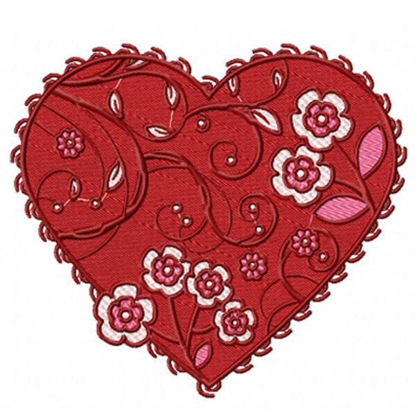 Valentines Hearts Collection #06 Machine Embroidery Design