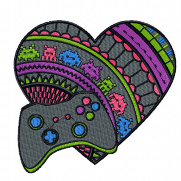 Game Lover - Love For Hobby Collection #03 Machine Embroidery Design