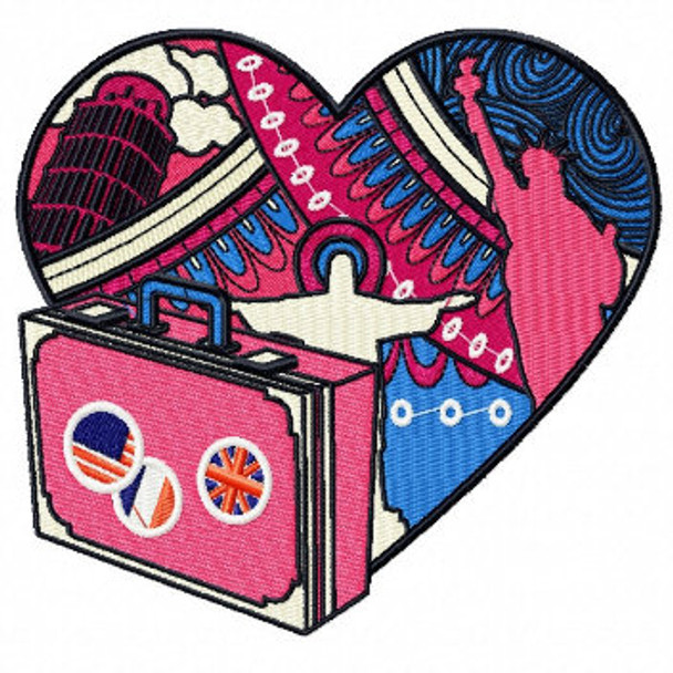 Love for Travel - Love For Hobby Collection #06 Machine Embroidery Design
