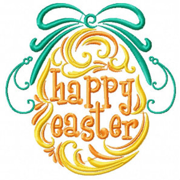 Happy Easter Egg - Abstract Easter Collection #07 Machine Embroidery Design