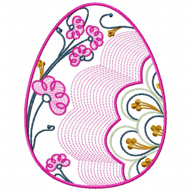 Easter Egg Collection #01 Machine Embroidery Design