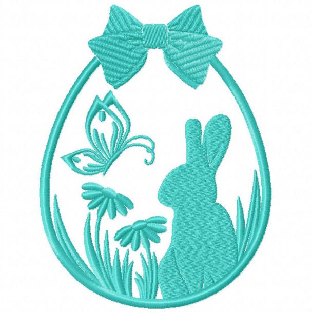 Silhouette Easter Design #01 Machine Embroidery Design