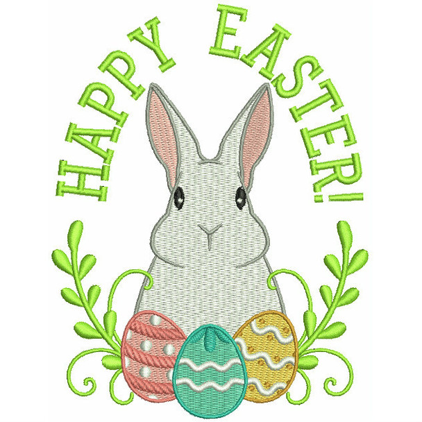 Happy Easter - Easter Typography Collection #01 Machine Embroidery Design