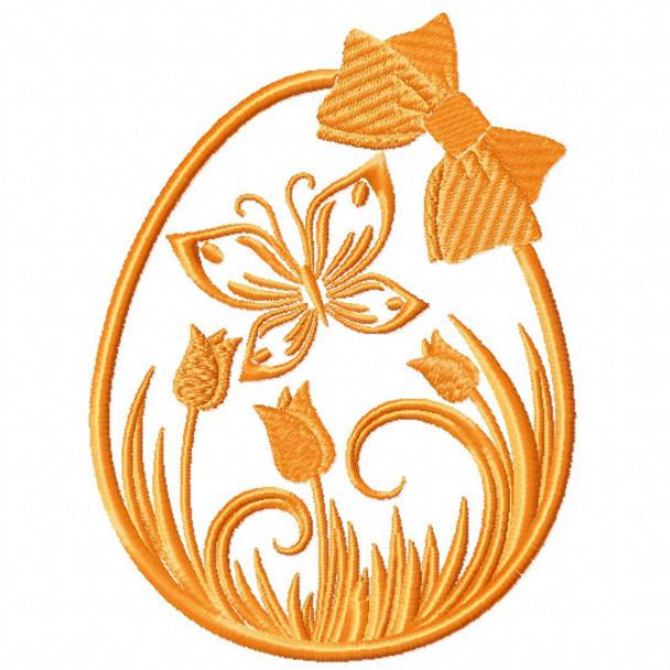 Silhouette Easter Design #06 Machine Embroidery Design