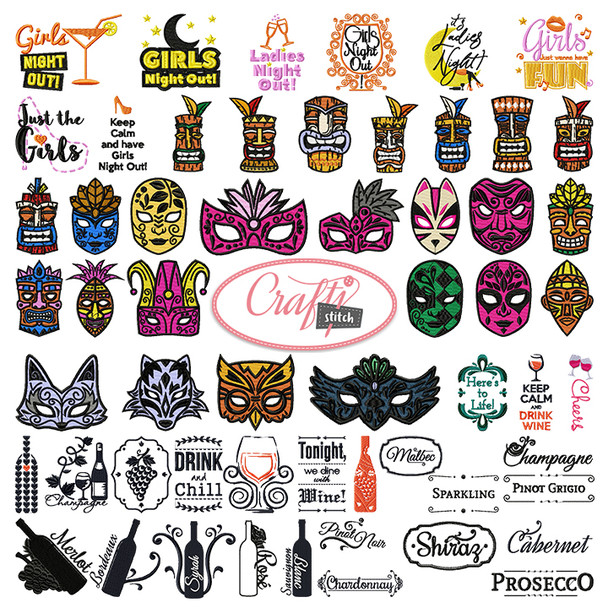 4x4 Hoop Party Special - 69 Party & Birthday Machine Embroidery Designs!