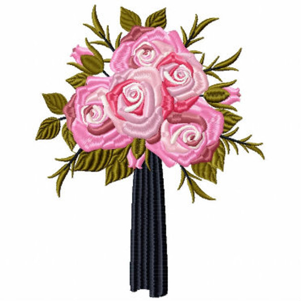 Posy Bouquet Wedding Bouquet Collection #03 Machine Embroidery Design