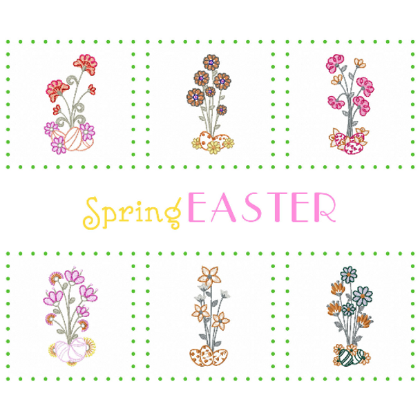 Machine Embroidery Designs - Spring Easter Collection of 6