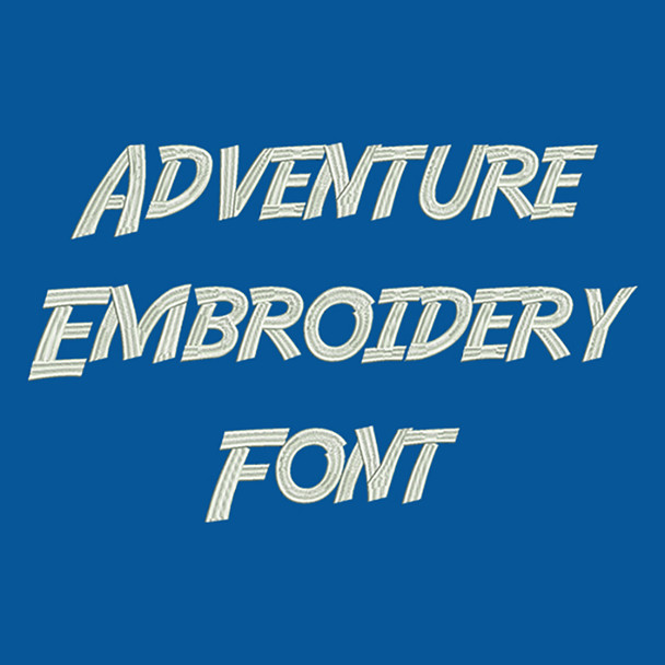 Machine Embroidery Font - Adventure Font