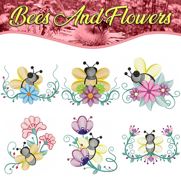 Bees And Flowers Full Collection