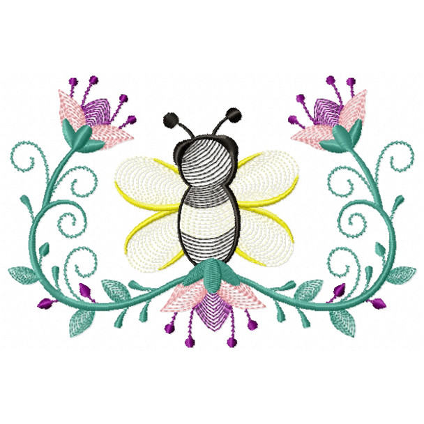 Bees And Flowers 06