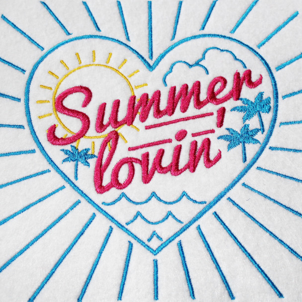 Machine Embroidery Designs - Summer Typography Collection of 6