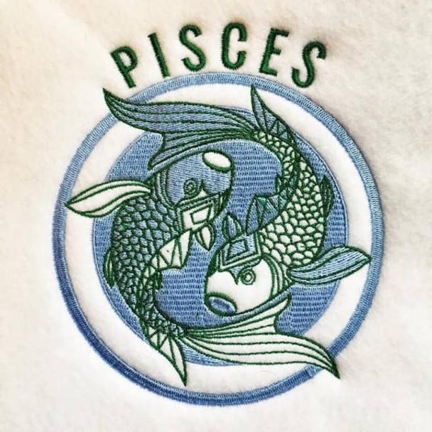 Pisces - Zodiac Collection #02 Machine Embroidery Design