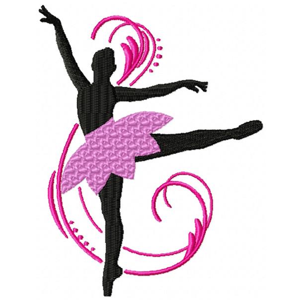Silhouette Ballet Dancers #01