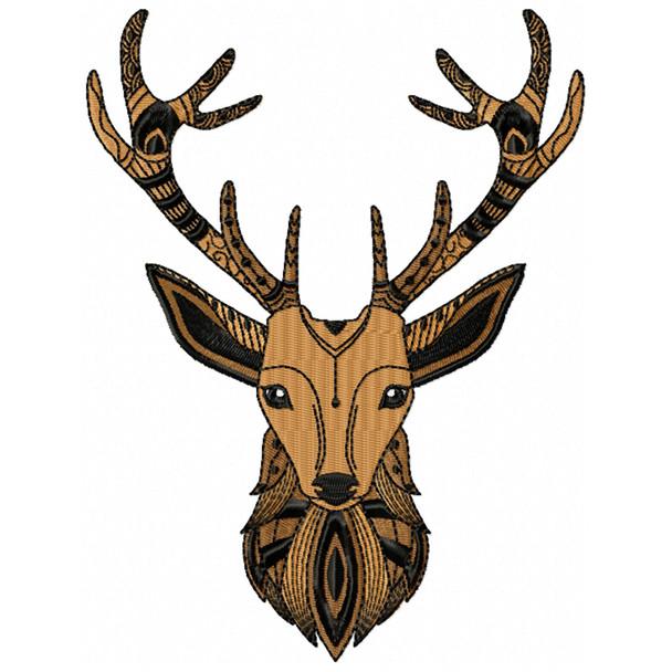 Detailed Deer Face B