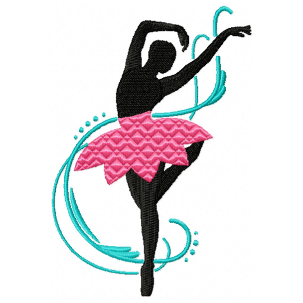 Silhouette Ballet Dancers 05