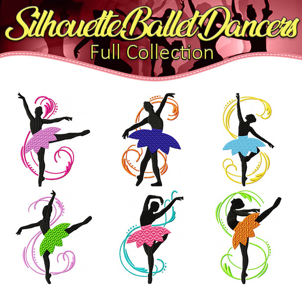 Silhouette Ballet Dancers Full Collection