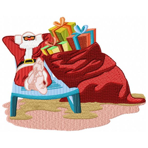 Santa On The Beach #09