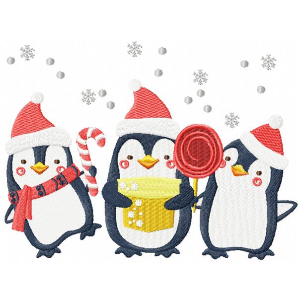 Christmas Penguins #01