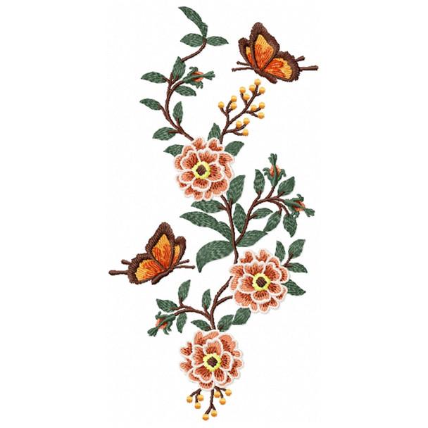 Flower Garden And Butterflies #06