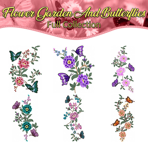 Flower Garden And Butterflies Full Collection