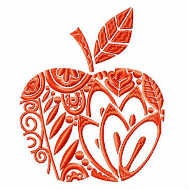 Apple - Shopping Totes Collection #5 Machine Embroidery Design