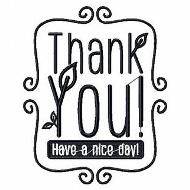 Thank you - Shopping Totes Collection #7 Machine Embroidery Design