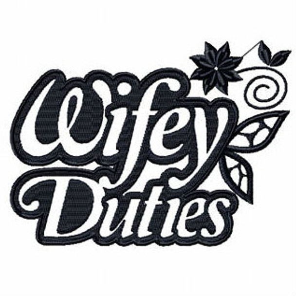 Wifey Duties - Shopping Totes Collection #6 Machine Embroidery Design
