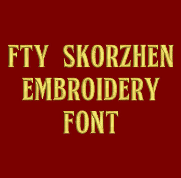 Skorzhen Embroidery Font Now Includes BX Format