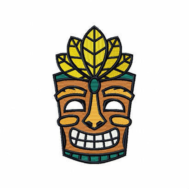 Tribal Mask - Masquerade Design Collection #07 Machine Embroidery Design