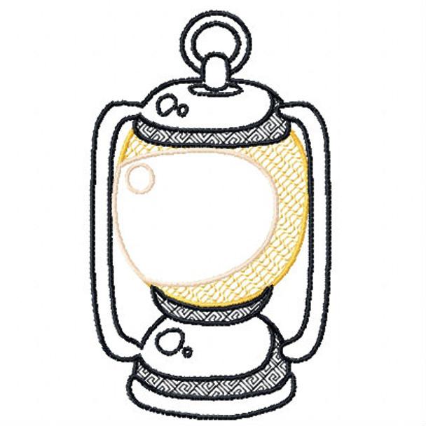 Camp Lantern - Camping #02 Machine Embroidery Design