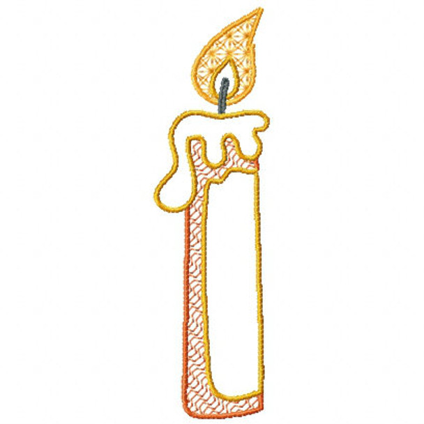 Camp Candle - Camping #03 Machine Embroidery Design