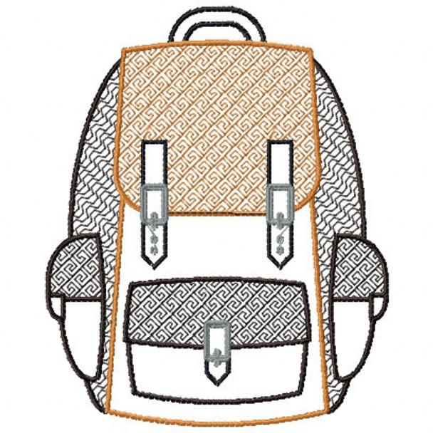 Camp Bag - Camping #04 Machine Embroidery Design