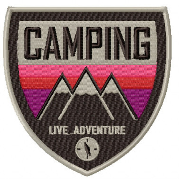 Camping Badges #02 Machine Embroidery Design