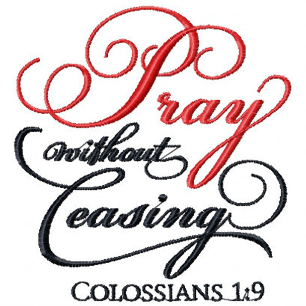 Colossians 1.19 - Religious Typography Collection #06 Machine Embroidery Design