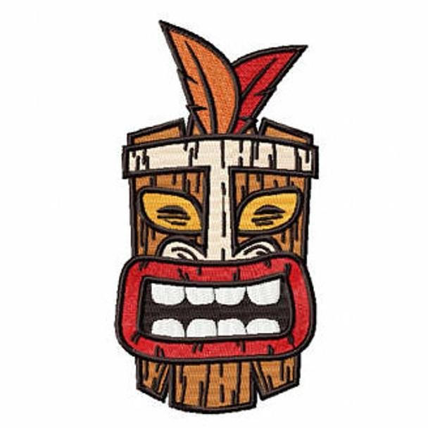 Luau Masks #07 Machine Embroidery Design