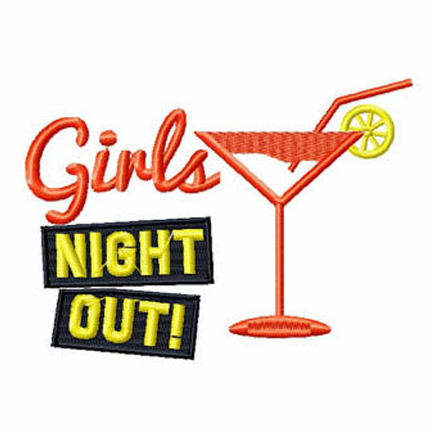 Girls Night Out Cocktail - Girls Night Collection #01 Machine Embroidery Design