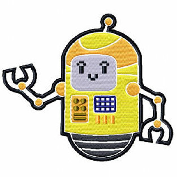 Spaceship Cyborg - Robot Collection #02 Stitched and Applique Machine Embroidery Design