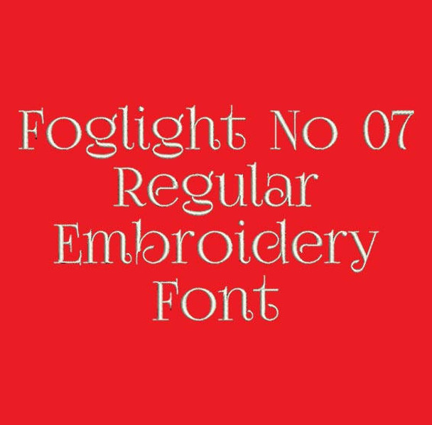 Fancy Classic Font - Foglight No 07 Regular Machine Embroidery Font  Now Includes BX Format!