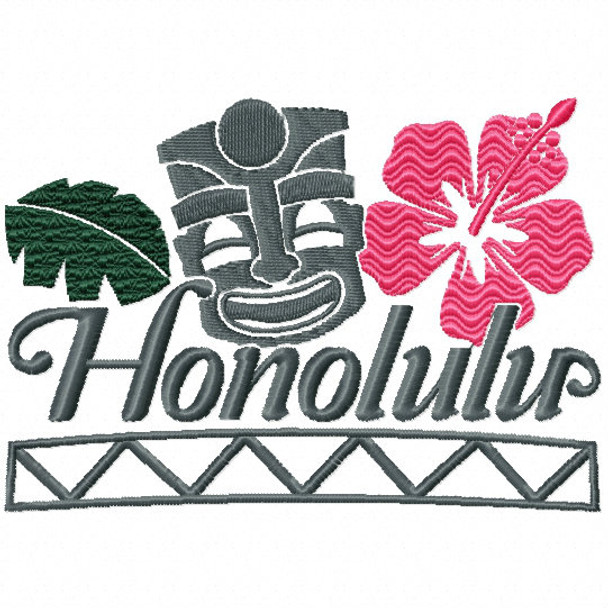 Honolulu - City Collection #02 Machine Embroidery Design