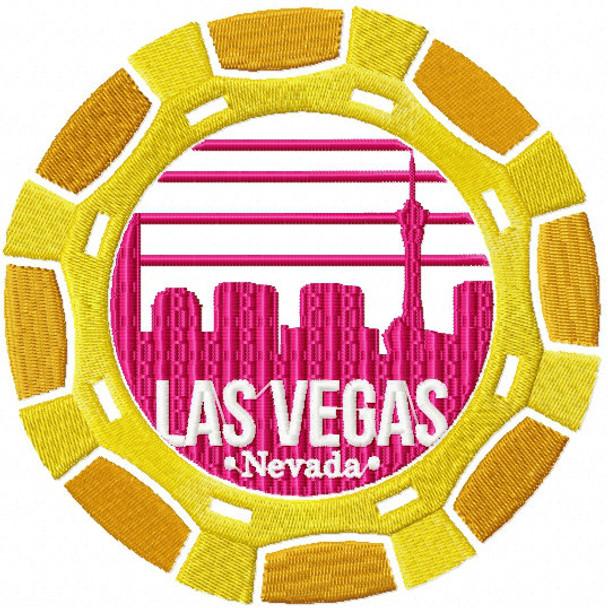 Las Vegas Casino Chip - City Collection #03 Machine Embroidery Design