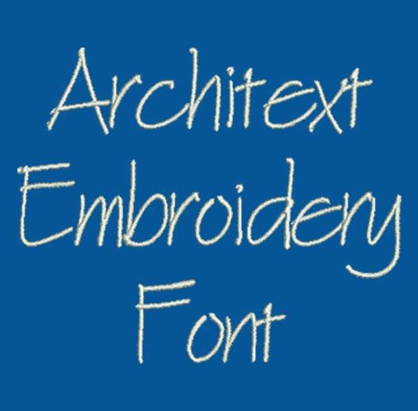 Blueprint Font - Architext Machine Embroidery Font Now Includes BX Format!