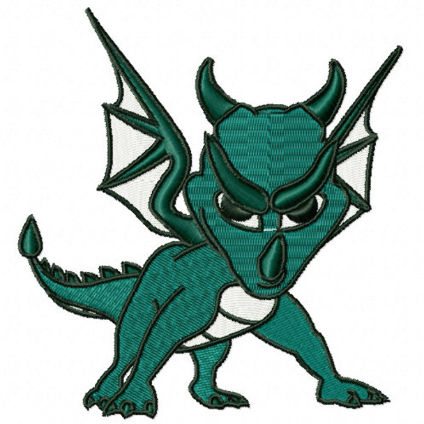 Green Dragon - Dragon Cartoon #05 Machine Embroidery Design