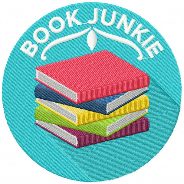 Book Junkie - Book Lover #04 Machine Embroidery Design