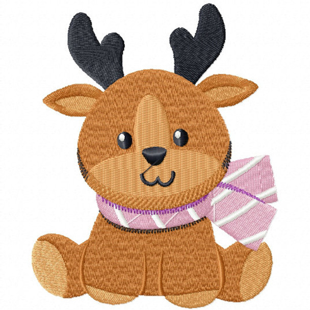 Stuffed Deer - Stuffed Toy #02 Machine Embroidery Design