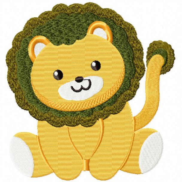Stuffed Lion - Stuffed Toy #03 Machine Embroidery Design