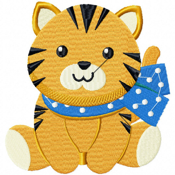 Stuffed Tiger - Stuffed Toy #05 Machine Embroidery Design