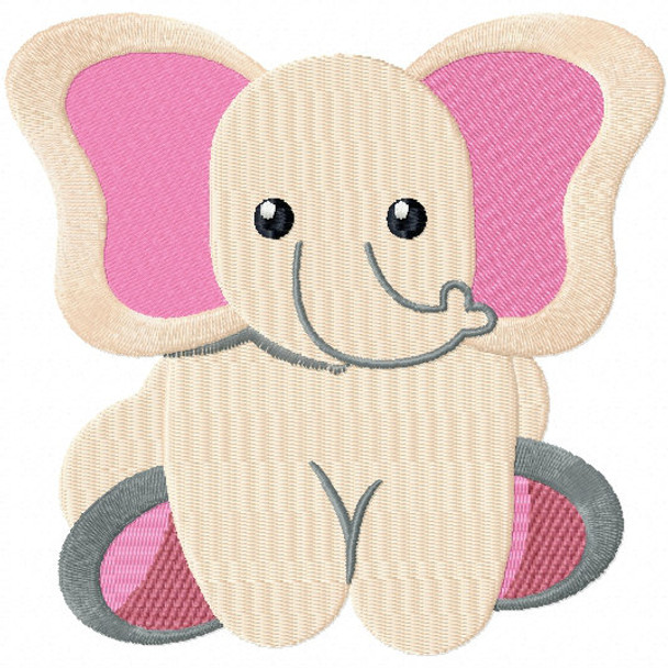 Stuffed Elephant - Stuffed Toy #09 Machine Embroidery Design