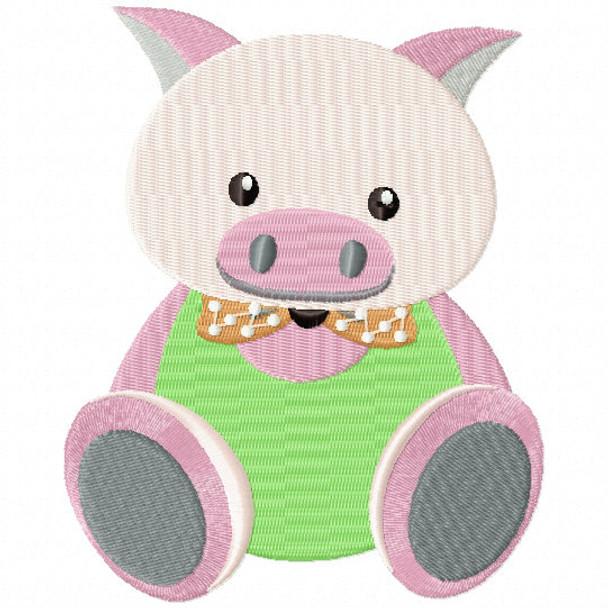 Stuffed Pig - Stuffed Toy #13 Machine Embroidery Design