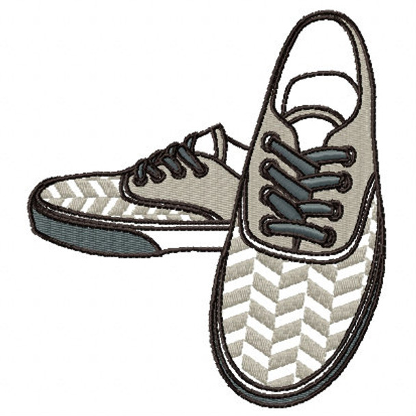 Plimsoll Sneaker - Shoe Collection #08 Machine Embroidery Design